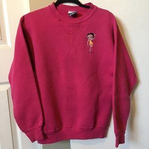 Vintage pink Betty Boop sweatshirt